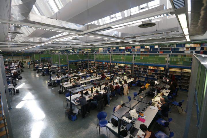 Studenti che studiano in biblioteca