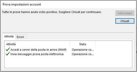 Configurazione PEC su Outlook